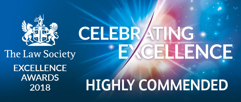 The Law Society Excellence Awards 2018 Highly Commended