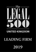 The Legal 500 UK: Leading Firm 2019