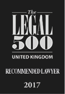 The Legal 500 UK: Recommended Lawyer 2017