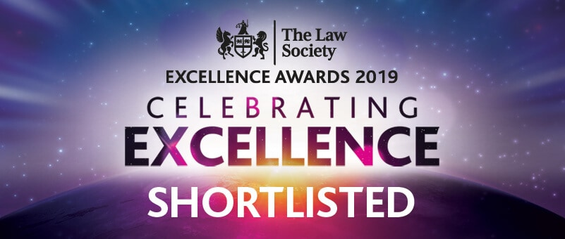 The Law Society Excellence Awards 2019 Celebrating Excellence Shortlisted