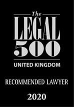 Legal 500 UK Recommended Lawyer 2020