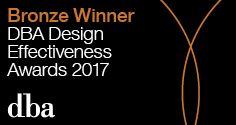DBA Design Effectiveness Award Bronze Winner 2017