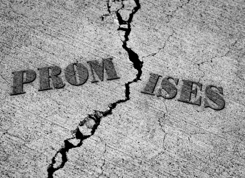 promises broken off