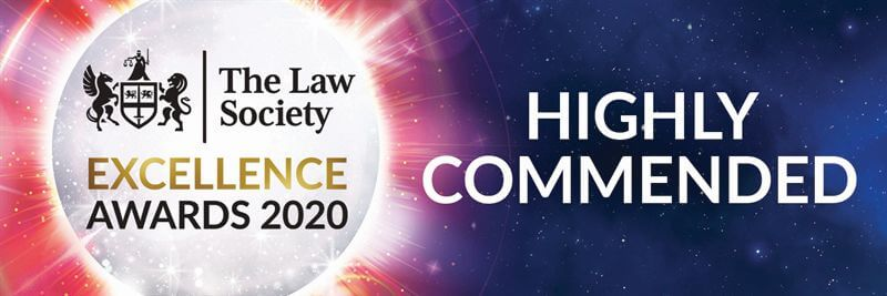 The Law Society Excellence Awards Highly Commended 2020