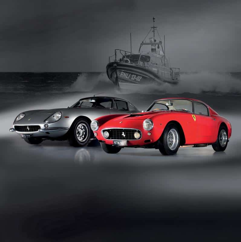Ferrarisauctioned on behalf of RNLI