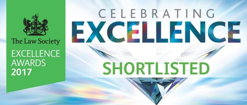 The Law Society Excellence Awards Shortlisted 2017