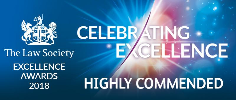 The Law Society Excellence Awards Highly Commended 2018