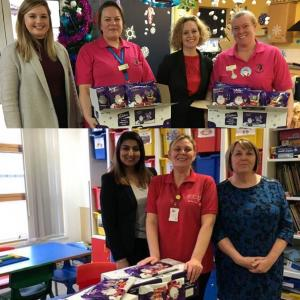 Wilson Browne Solicitors wanted donated 100 chocoloate boxes to two local hospitals