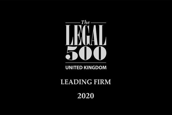 Leading Lawyers and their teams recognised in this years Legal 500